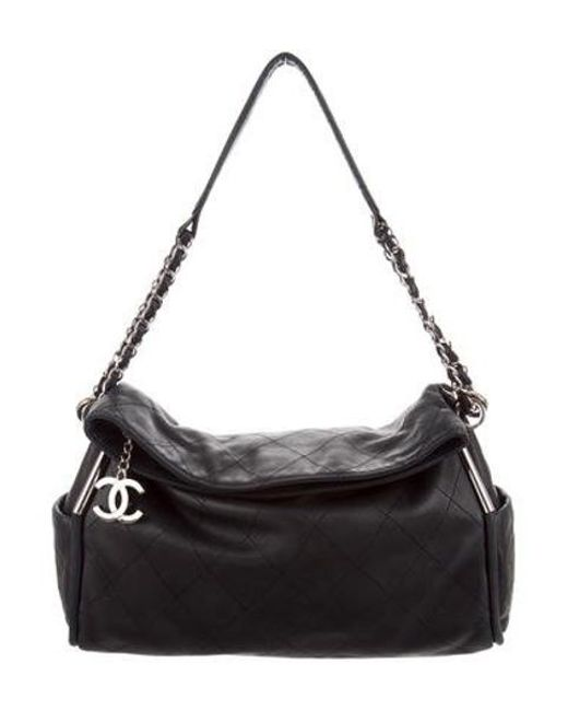 Chanel - Metallic Small Ultimate Soft Hobo Navy - Lyst ... fc03d7cc79a27