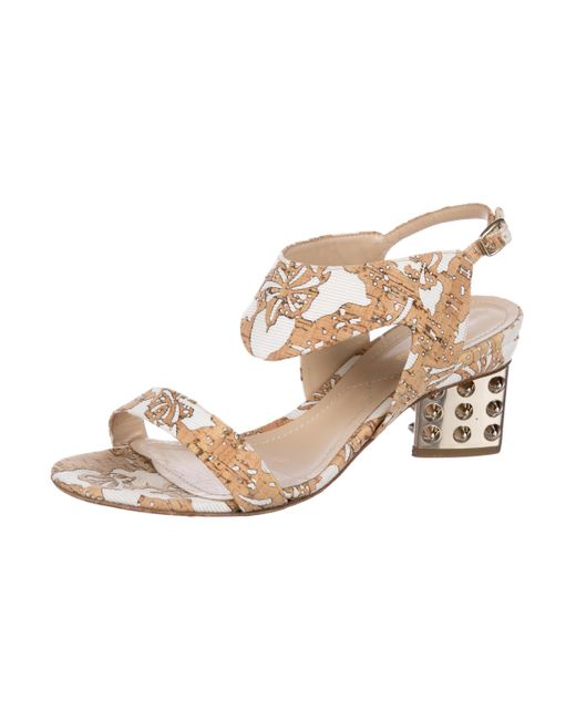 clearance reliable Nicholas Kirkwood Cork Printed Sandals really cheap amazon for sale Z7qw7Vx