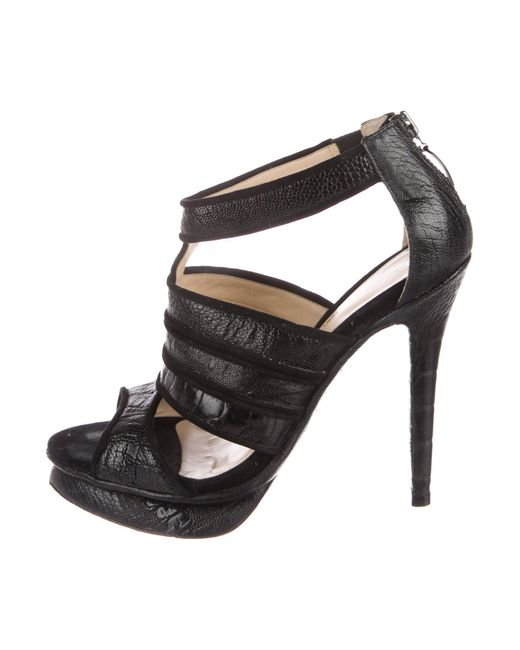 Alexandre Birman Ostrich Leg Cage Sandals cheap low price fee shipping perfect cheap price 2014 new cheap online outlet pay with visa clearance with mastercard fycpNbn4