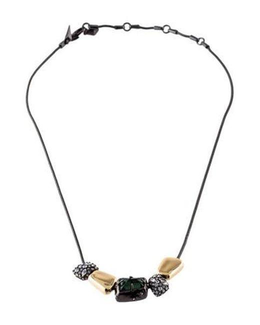 Alexis Bittar - Metallic Crystal Sliding Charm Collar Necklace Gold - Lyst