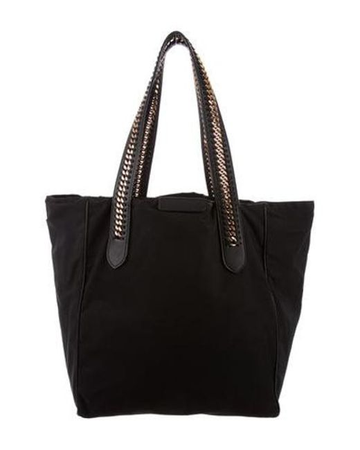 dfc3e2d4a911 Stella McCartney - Metallic Eco Nylon Falabella Tote Black - Lyst ...