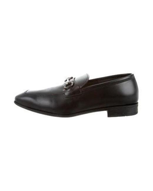 0fd9a93b1fc Ferragamo - Black Giant Gancini Leather Loafers W  Tags for Men - Lyst ...