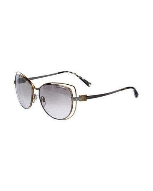 2769664485 ... Michael Kors - Metallic Mirrored Oversize Sunglasses Silver - Lyst ...