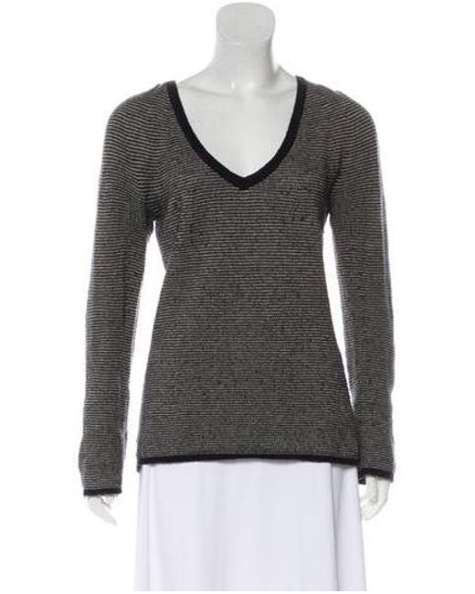 0710fe763a3c Lyst - Loro Piana Cashmere Long Sleeve Sweater in Black