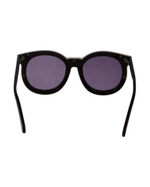 8036d614873c ... Karen Walker - Metallic Super Duper Thistle Sunglasses Black - Lyst ...