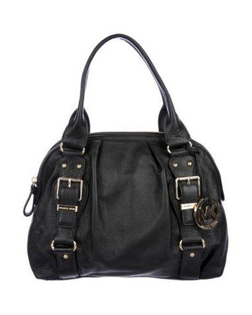 fdf6c3b324a59 MICHAEL Michael Kors - Metallic Michael Kors Leather Handle Bag Black - Lyst  ...
