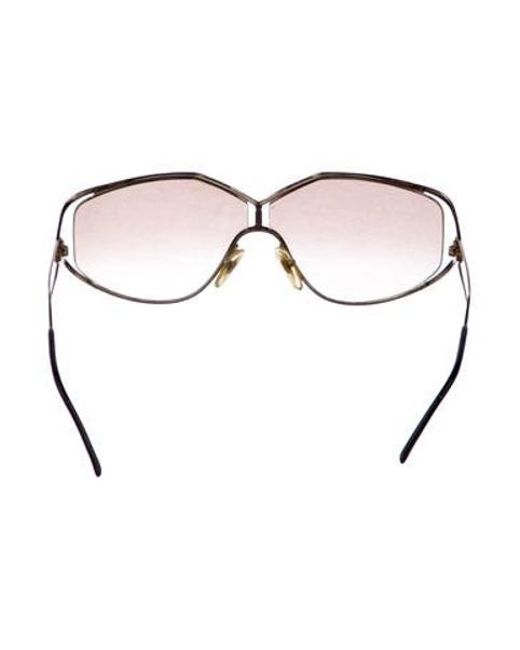 29b478a90c8d ... Dior - Metallic Gradient Shield Sunglasses Gold - Lyst ...