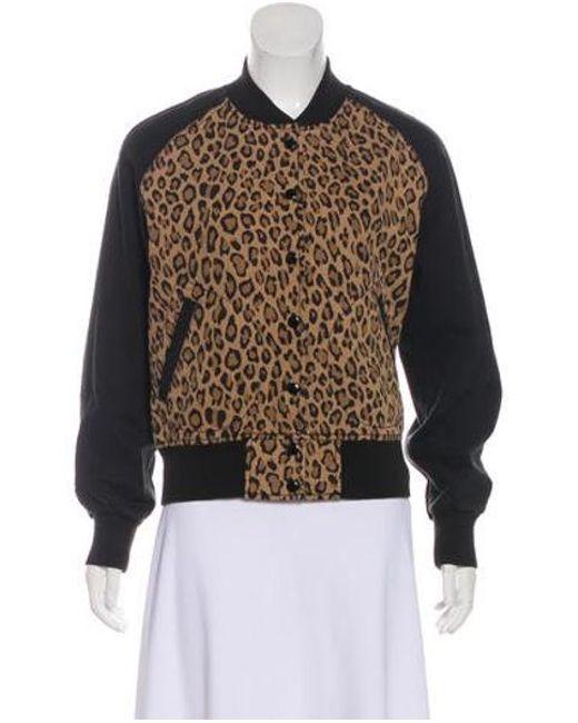 R13 - Black Leopard Combo Jacket - Lyst