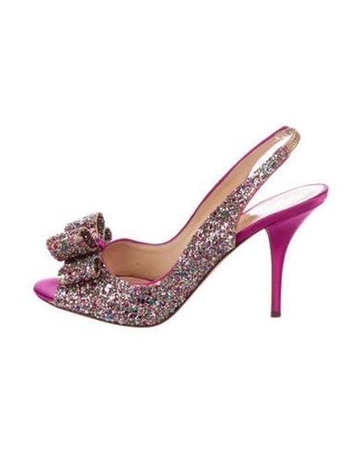 3ba5819db35 Kate Spade - Pink Charm Glitter Pumps Magenta - Lyst ...