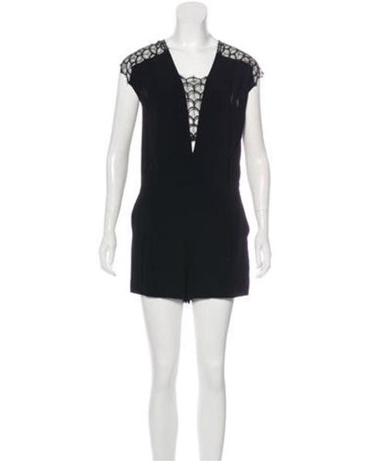 552c83baed7a Sandro - Black Lace Accented Romper W  Tags - Lyst ...