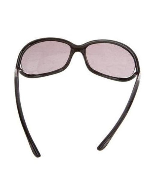 b123f51e18 ... Tom Ford - Metallic Jennifer Gradient Sunglasses Black - Lyst ...
