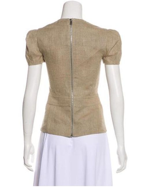 64508e789ae ... Michael Kors - Natural Linen Zip-up Top W  Tags Tan - Lyst