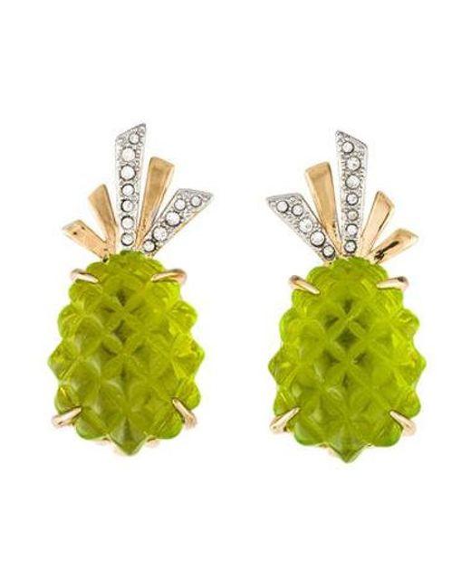 Alexis Bittar - Metallic Pineapple Clip-on Earrings Brass - Lyst