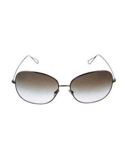 4417b59c4029 Oliver Peoples - Metallic Daria Oversize Sunglasses Gold - Lyst ...