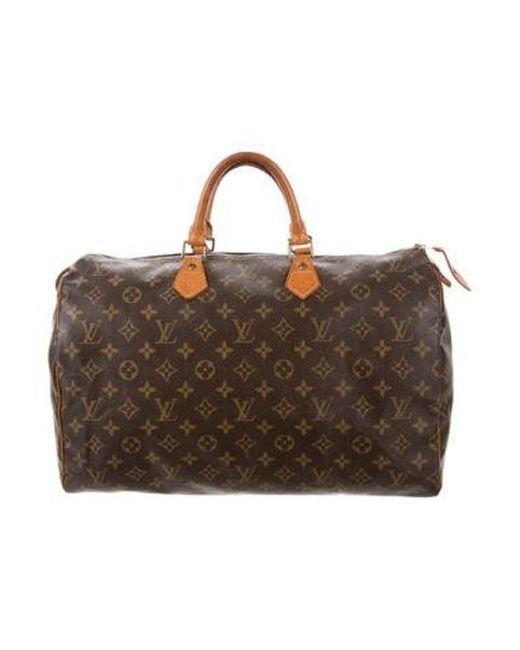 650ea86c7cb3 Louis Vuitton - Natural Monogram Speedy 40 Brown - Lyst ...