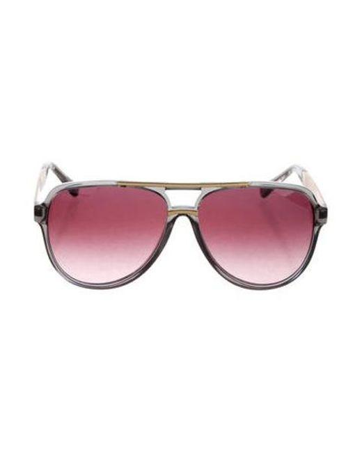 674e4bbec5 Michael Kors - Metallic Gradient Aviator Sunglasses Grey - Lyst ...