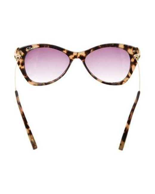 5dc8a8537a ... Elizabeth and James - Metallic Fillmore Cat-eye Sunglasses Beige - Lyst  ...