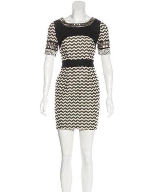 5f99e7b683 Matthew Williamson - Gray Embellished Mini Dress Black - Lyst ...