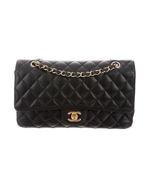 50ecec8df8b6 Chanel - Metallic Classic Medium Double Flap Bag Black - Lyst ...