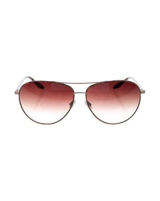 Barton Perreira - Metallic Jet-setter Aviator Sunglasses Gold - Lyst