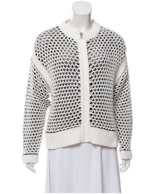 Love Moschino - White Open-knit Rib Accented Jacket W/ Tags - Lyst