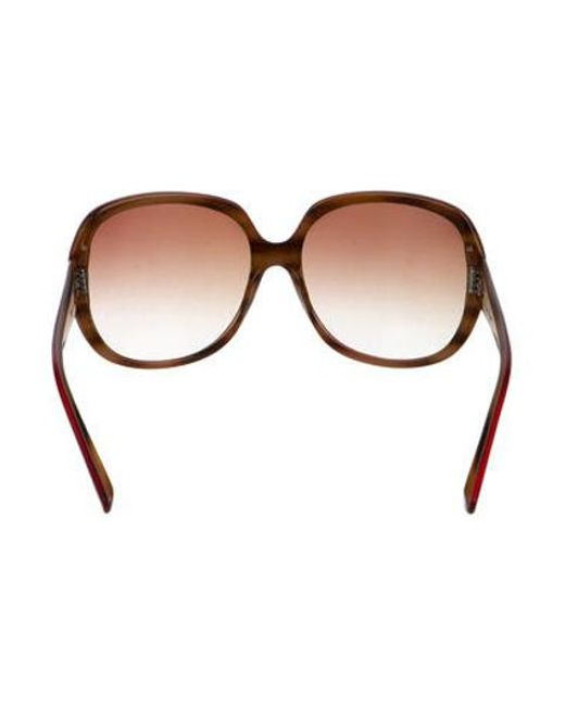e9ed7030be0 ... Dita - Red Gadient Oversize Sunglasses - Lyst ...