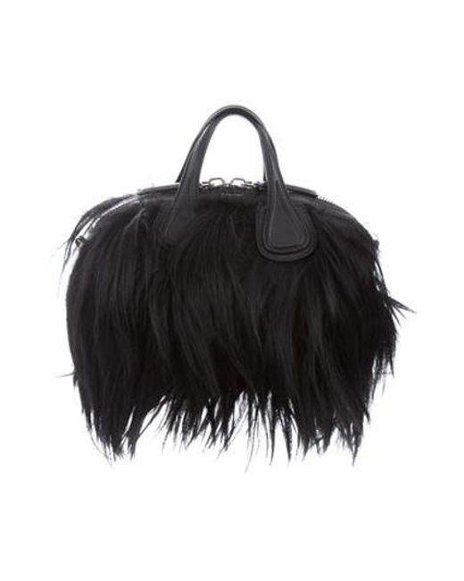 ae230ef3c975 Givenchy - Metallic Small Faux Fur Nightingale Bag Black - Lyst ...
