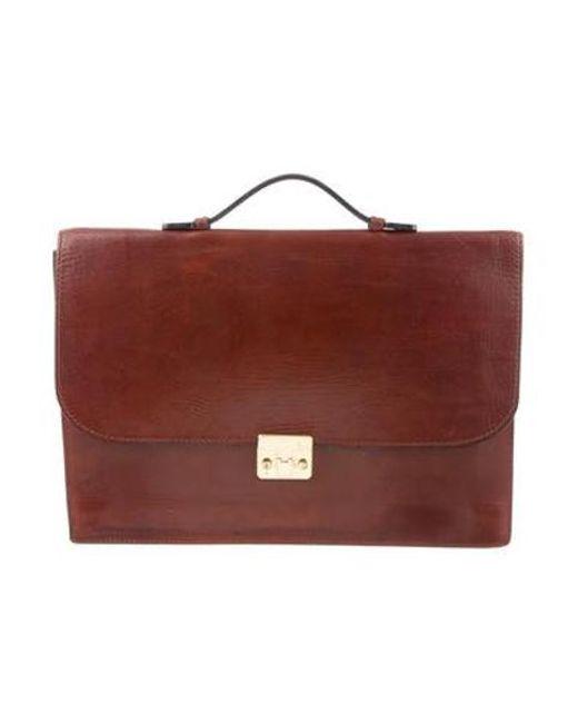 Bottega Veneta - Natural Embossed Leather Briefcase Brown for Men - Lyst ... 77fccbb2f8641