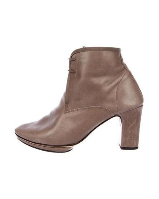 Repetto - Brown Leather Ankle Boots - Lyst