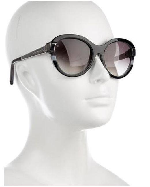 99d673c95f821 ... Louis Vuitton - Metallic Petit Soupçon Cat-eye Sunglasses Black - Lyst