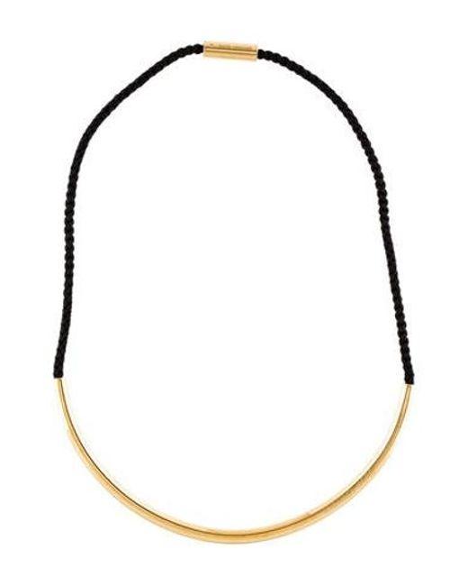 2af37938daeb2 Michael Kors - Metallic Macramé Collar Necklace Gold - Lyst ...