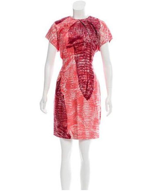 Acne - Metallic Printed Sweety Kroko Dress Pink - Lyst