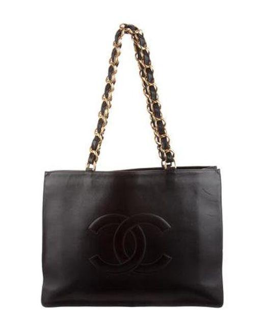 73ddf98d8953 Chanel - Metallic Vintage Timeless Tote Black - Lyst ...