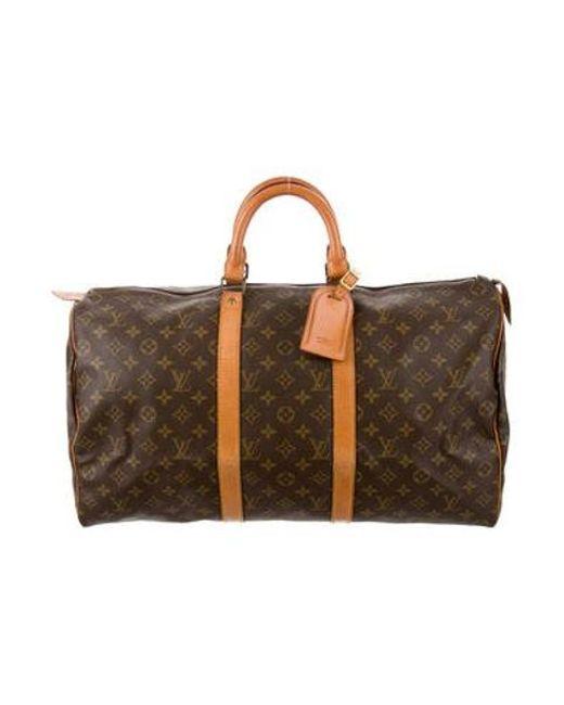 c2b83e4da327 Louis Vuitton - Natural Monogram Keepall 50 Brown - Lyst ...