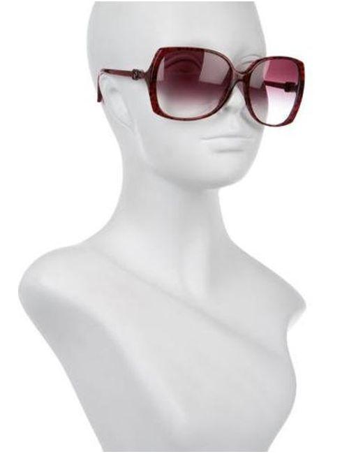 c7a66cc933e9 ... Chanel - Metallic Square Signature Sunglasses Silver - Lyst
