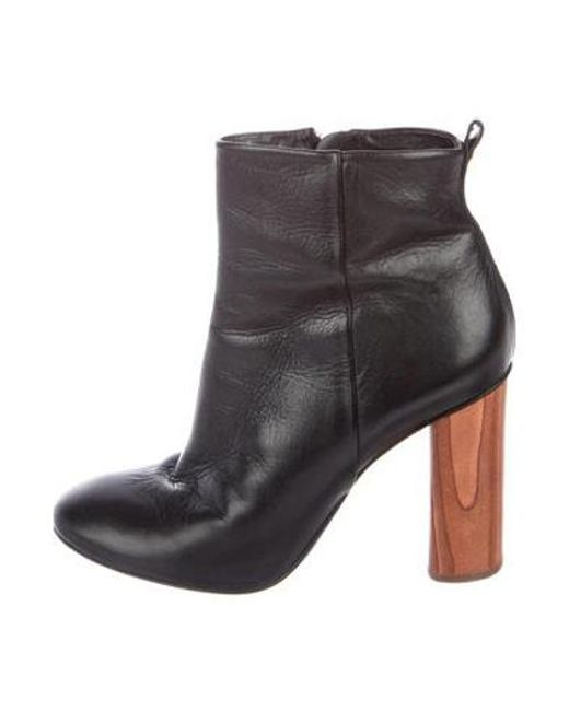 d8811acae42 Tory Burch - Black Leather Ankle Boots - Lyst ...