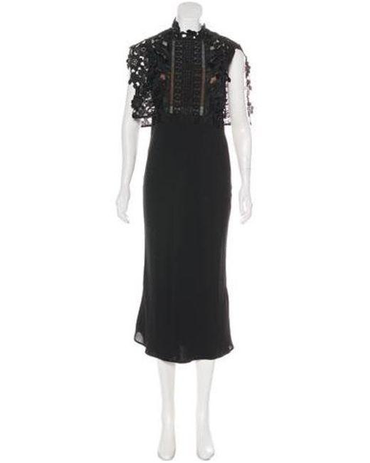 8e2d3e80a2d96 Self-Portrait - Black Sleeveless Lace Maxi Dress - Lyst ...