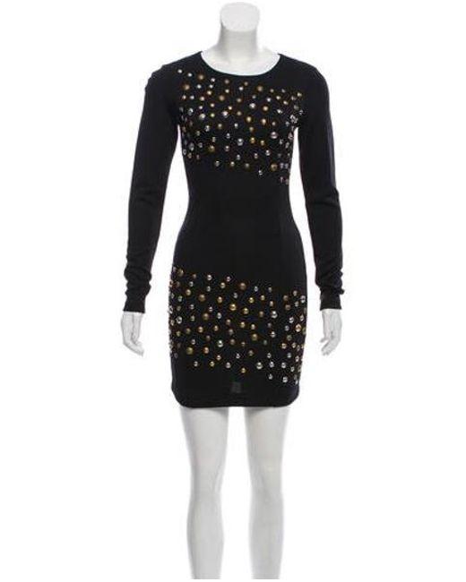 338258171514 Balmain - Metallic Embellished Bodycon Dress W/ Tags Black - Lyst ...