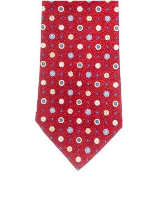 50473c70f8ae BVLGARI - Yellow Silk Pattern Tie Red for Men - Lyst ...