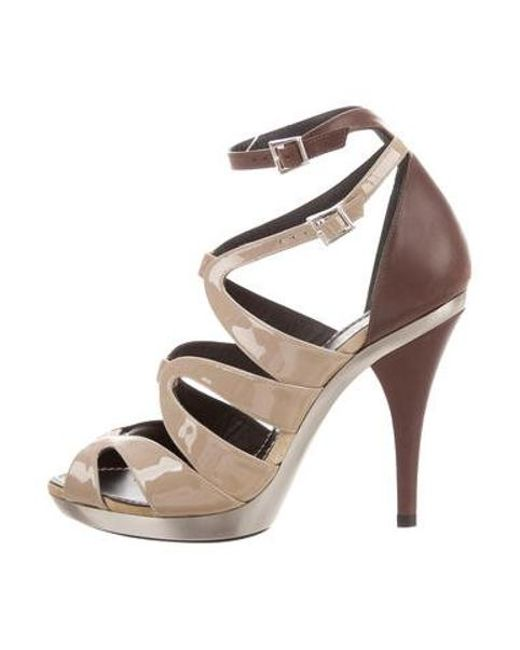 0f40c0123b Barbara Bui - Natural Patent Leather Cage Sandals W/ Tags Nude - Lyst ...