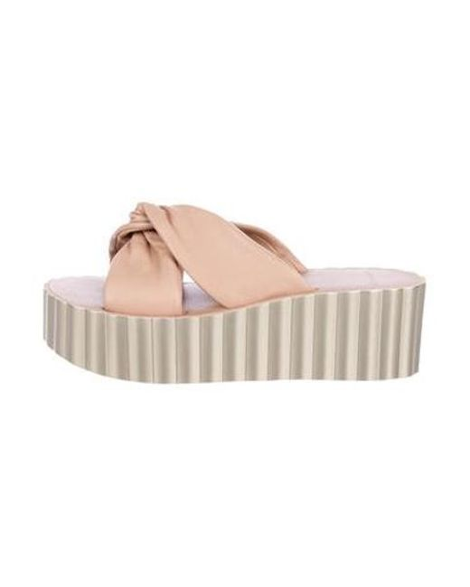 2c2c7b74194c Tory Burch - Pink Leather Slide Sandals W  Tags - Lyst ...
