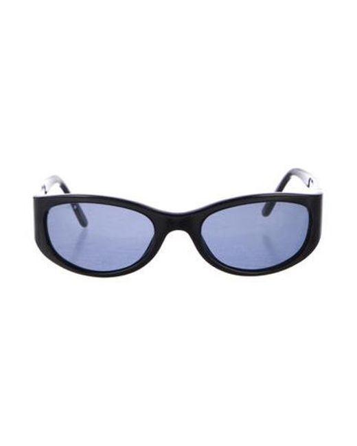 949eb419375e Chanel - Black Logo Tinted Sunglasses - Lyst ...