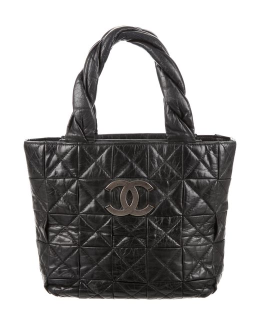 Chanel - Metallic Small Origami Tote Black - Lyst