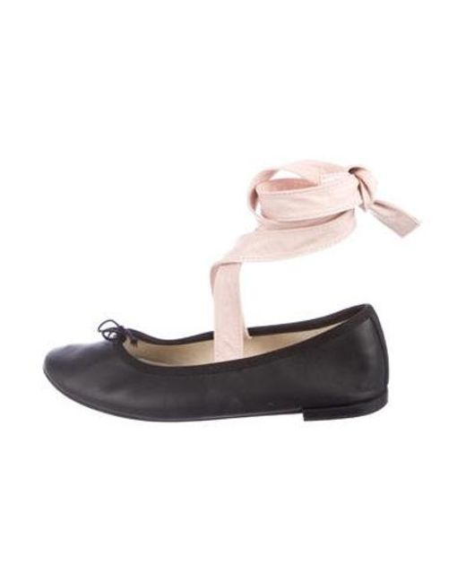 5d246033a23c Repetto - Black Leather Ballet Flats - Lyst ...