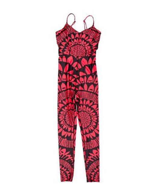 92d689d19e2ee Mara Hoffman - Red Printed Swim Jumpsuit W/ Tags Coral - Lyst ...
