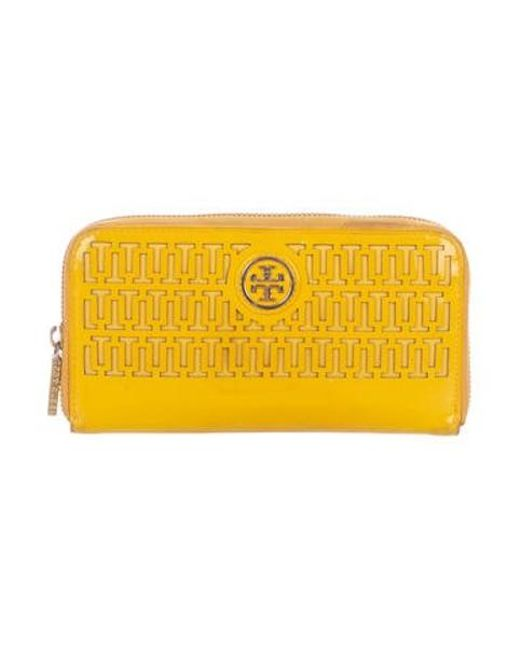 9affd53c2da Tory Burch - Metallic Georgiana Continental Wallet Gold - Lyst ...