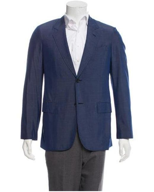 cc2f064e1c5f Louis Vuitton - Blue Silk Two-button Blazer for Men - Lyst ...