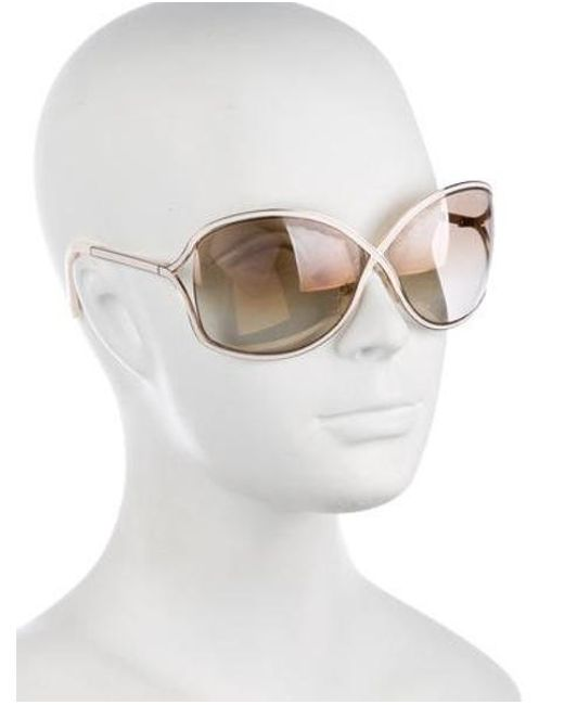cda46e4ea2b60 ... Tom Ford - Metallic Rickie Gradient Sunglasses Gold - Lyst