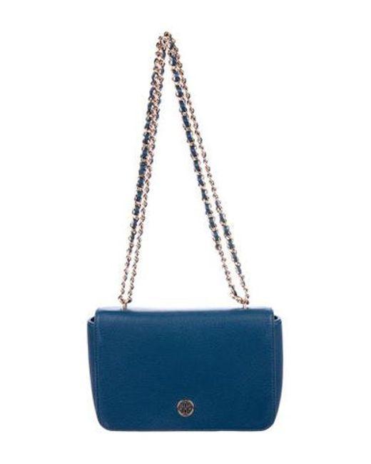 73ee178a9e1f Tory Burch - Metallic Leather Robinson Crossbody Bag Gold - Lyst ...