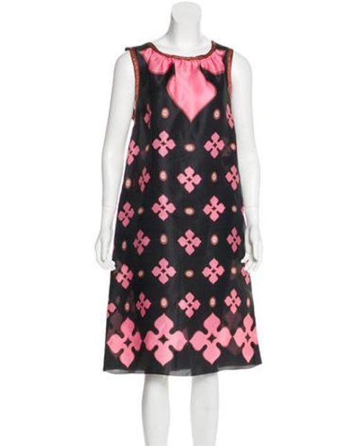 c83c3048509c M Missoni - Pink Silk Mini Dress - Lyst ...